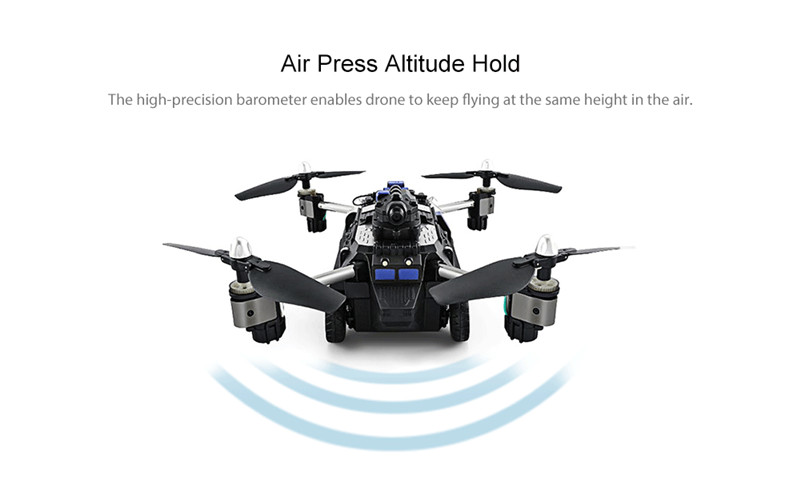 JJRC H40WH WIFI FPV With 720P HD Camera Altitude Air Land Mode RC Quadcopter Car Drone Helicopter Toys RTF VS H37 H36