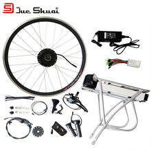 36v 250w - 500w Brushless Hub Motor Kit Rear Rack Carrier Lithium Battery with Charger Electric Bicycle  Ebike Accessories LCD