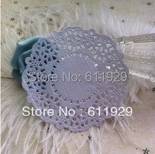 Free shipping colored paper doilies,3.5inch/8.8cm, white round paper lace doilies/placemat,wedding tableware decoration(China)