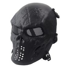 Airsoft Paintball Full Face Protection Skull Mask Army Games Outdoor Metal Mesh Eye Shield Costume for CS Cosplay Party A20