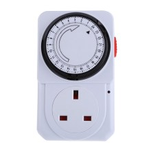 24 Hours Timer Switch Socket Electrical Energy-saving Programmable Timer Socket UK Plug For water dispenser, water heaters