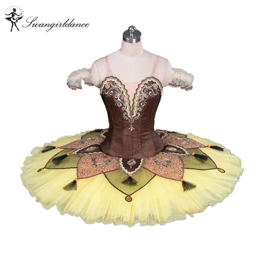 yellow professional platter tutu classical ballet tutu costume toddler dancewear adult tutu dressesBT9084