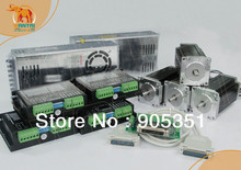 Promotion of Wantai !!! Ship from USA High Quality ,4Axis Nema 23 Stepper Motor 428oz-in ,dual  shaft ,CNC Mill Control