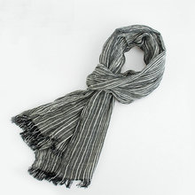 Brand Scarf Luxury Designer Color Contract Muffler Fringed Tassel Cotton Scarves For Male Spring Classic Cachecol Shawl YG369