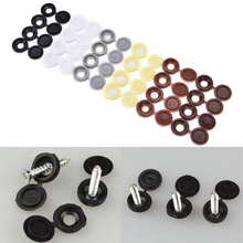 Hot Selling 10pcs/lot Hinged Plastic Screw Cover Cap Fold Snap Caps For Car Home Furniture Decor 6 Colors Wholesale low price(China)