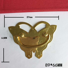 Brass Butterfly Pattern Drawer Cabinet Desk Box Door Pull Handle Knob Furniture Hardware,Yellow Color,89*66mm,1PC