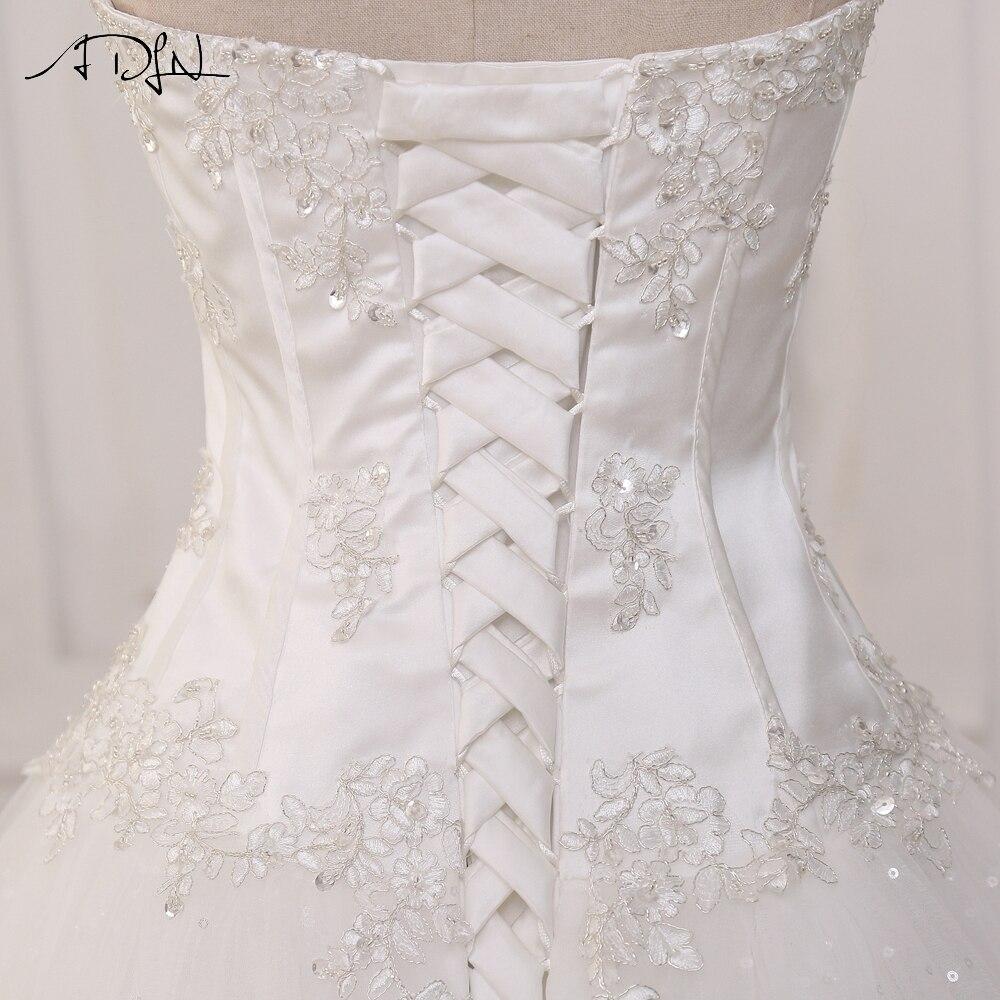 ADLN Wedding Dresses Vestidos de Novia Off the Shoulder Sweetheart Tulle Long Bride Dress Lace Up Back Plus Size In Stock 11