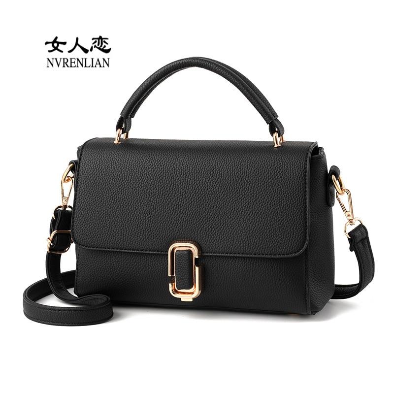 2017 Womens Leather Messenger Bag Handbags Shoulder Cross Body Bag Fashion Vintage Small Envelope Bags Clutch Satchels <br>