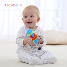 Baby Toys Smile Face Rattles Mobiles Toys Colorful Bell Ring Early Learning Intelligence Development Toddler Grasping Kids Toys(China)