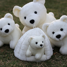 Polar Bear Plush Toys Cute White Bear Dolls Stuffed Cute Animal Soft Stuffed Plush Toy Peluches De Animales For Children 70C0117(China)