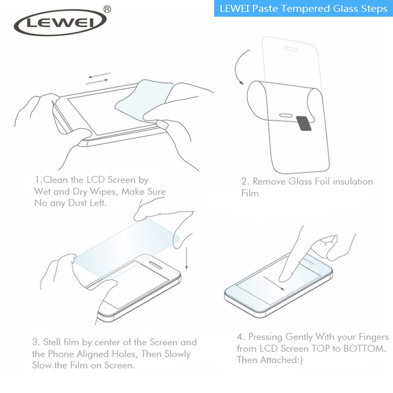 ZLEWEI Paste Tempered Glass Steps