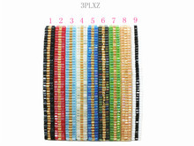 3PLXZ1-9 Handmade 3row Friendship  Bracelet Hippy Beaded Friendship Bracelet Rope String Friendship Bracelets For Women Men