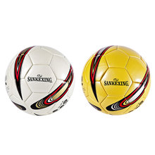 SANKEXING Football Slip-resistant Professional Match Trainning Soccer Ball Game Soft Leather Size4 Football Balls Standard Balls
