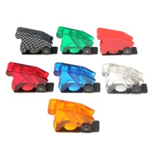 1pc White/Red/Yellow/Blue/Green/Dark Red/Carbon Fiber New Toggle Switch Waterproof Boot Plastic Safety Flip Cover Cap(China)
