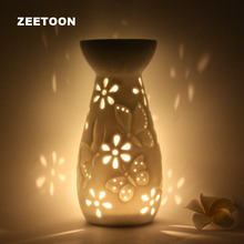 Japanese Style white ceramic Essential Oil Diffuser Candle Aroma Incense Burner Furnace Yoga SPA Aromatherapy Lamp Home Decor(China)