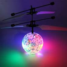 Infrared Induction Flying Flash Disco Colorful Magic LED Ball Stage Lamp Helicopter Children Toy Best Gift for Kids Xmas Gifts(China)