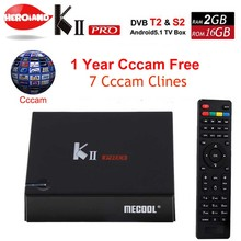 1 Year Europe Cccam 7Cline server KII Pro DVB S2 T2 Android5.1 smart Tv Box DVB-T2 DVB-S2 Amlogic S905 2G/16G WiFi K2 PRO Player(China)