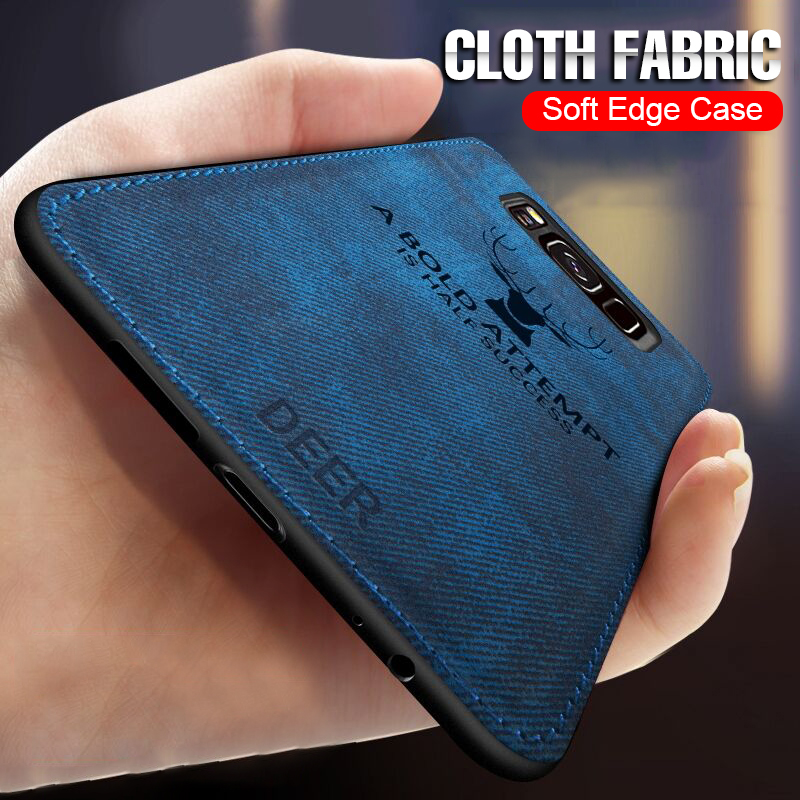 Soft Cloth Back Case Cover For Samsung Galaxy S7 Edge S9 S8 Note 9 8 Full Phone Case For Samsung S9 S8 Plus Shockproof Case(China)