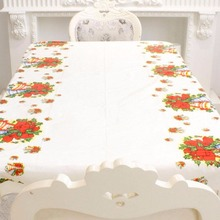 New Year Christmas Decorations For Home Disposable Tablecloth Waterproof Table Runner Cover 108x180cm Party Supplies Navidad(China)