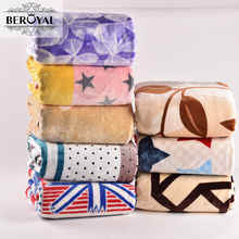 Beroyal Brand Fleece Blanket - Super Soft Throw Blanket Star Sofa Travel Blankets 180*200cm Adult Bedding Spring/Autumn(China)