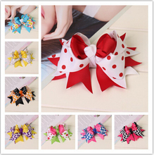 new boutique large kids child decorations for hair of grosgrain ribbon bows with clips for girls hairbows hairpins accessories