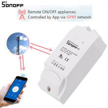 ITEAD Sonoff G1 Smart Wireless Switch Remote Control Power Home Appliances Via GPRS WiFi GSM NET Work Support SIM For Smartphone(China)