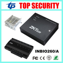 2 doors TCP/IP biometric fingerprint and RFID card access control panel system control board with power supply box ZK inbio260(China)