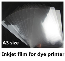 A3 size waterproof transparent frosted inkjet film sheets for dye ink printer 20 sheets