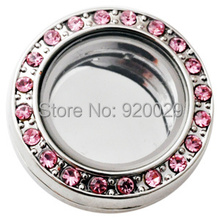D02106 pink wholesale jewelry snap button  charms locket BUTTON magentic floating locket