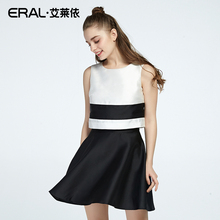 ERAL New Summer Arrival Round Neck Sleeveless High Waist Dress Women Sets Head Tide Fashion Female Clothes ERAL36187-FXAA