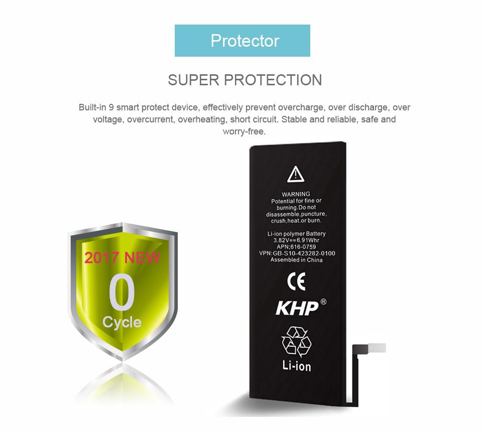 NEW 2017 100% Original KHP Phone Battery For iPhone 6 Capacity 1810mAh Repair Tools 0 Cycle Replacement Mobile Batteries Sticker (17)