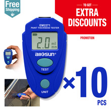 10pcs/lot Digital Thickness Gauge Car Painting Thickness Tester Paint Thickness Meter EM2271 ship from Eastern Europe warehouse