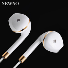 NEWNO In-Ear Wired Earphone Headphone with Microphone Stereo Headset Earbuds For Apple iPhone airpods Samsung Phone Earpiece