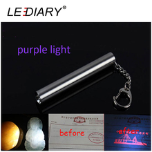 LEDIARY Ultraviolet Light LED Mini Torch Purple Light Money/Jade/Amber/Fluorescer Test Stainless Torch Aluminum Cree Handy Lamp