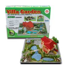 Garden Villa DIY Creative Building Model Kits Students Crafting Class Material Learn Garden Layout Design(China)