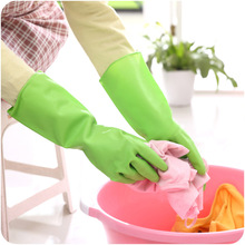 2017 High Quality Bathroom Kitchen Waterproof Household Glove Dishwashing Glove Water Dust Stop Cleaning Rubber Glove