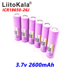 Liitokala New 100% Original For Samsung 18650 2600 mAh Li ion ICR18650-26J 3.7V battery(China)
