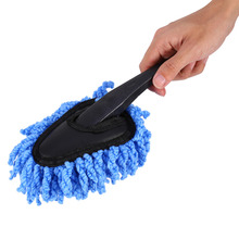 Microfiber Window Cleaner Long Handle Car Wash Brush Dust Auto Care Windshield Shine Towel Hand Washable Brush Cleaning Tool