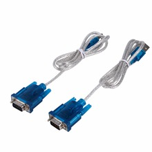 2PCS HL-340 USB to RS232 Serial Port 9 Pin Cable Serial COM Adapter Convertor for MODEM/Digital Camera/ISDN Terminal Adaptor(China)