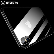 Buy TOMKAS 0.3mm Glass Back iPhone X 5 SE Tempered Screen Protector 9H Hardness Scratch Proof iPhone X 8 7 6 6S Plus Glass for $1.49 in AliExpress store