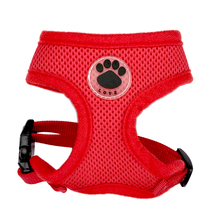 Paw LOVE Rubber Adjustable Soft Breathable Dog Cat Control dog Harness Nylon Mesh Vest harness for Pet puppy collar Chest Strap(China)
