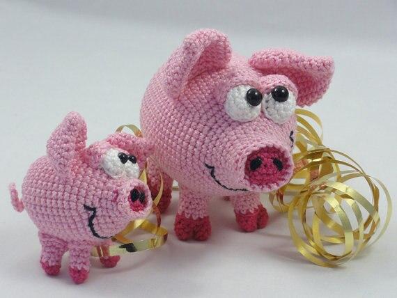 Amigurumi CrochetHamilton and Schnitzel the Piglets<br><br>Aliexpress