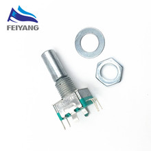 5pcs Rotary encoder,code switch/EC11/ audio digital potentiometer,with switch,5Pin, handle length 20mm