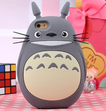 New style 3D Cartoon Totoro Cat Soft Silicon Phone Case Cute Cover Back Phone Case for iPhone  5  6 6s 6 plus