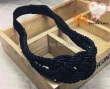 Wholesale! The new European and American style hair ribbon, three color hemp rope, gossip girl with hair band. 24pieces/lot!