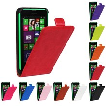 Luxury Leather Cover For Nokia Lumia 630 Fashion PU Vertical Flip Case Cover For Nokia Lumia 630 635 N630 N635 Phone Bags Shell(China)