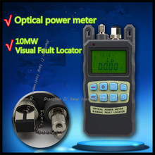 AUA-80A Visual Fault Locator 10MW + -70dBm- +10dbm Optical Power Meter Integrated Fiber Power Meter and 10KM Red light source(China)
