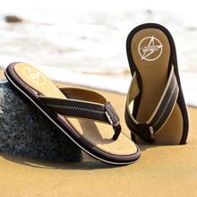 Buy 2016 Men Flat Flip Flops Leather Flip-Flops Mens Slippers Casual Summer Shoes Fashion Beach Men'S Sandals Flip Flops for $14.74 in AliExpress store