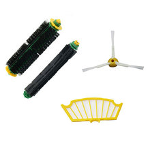 New Side Brush Filter Mini Kit 3 Armed for iRobot Roomba 500 Series 530 540 550 560 570 580 Free Shipping