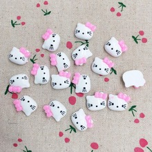 50Pieces Flatback Flat Back Resin Kawaii Cabochon DIY Animal Cat Cartoon Resin Craft Decoration For Hair Bow Embellishment:16mm